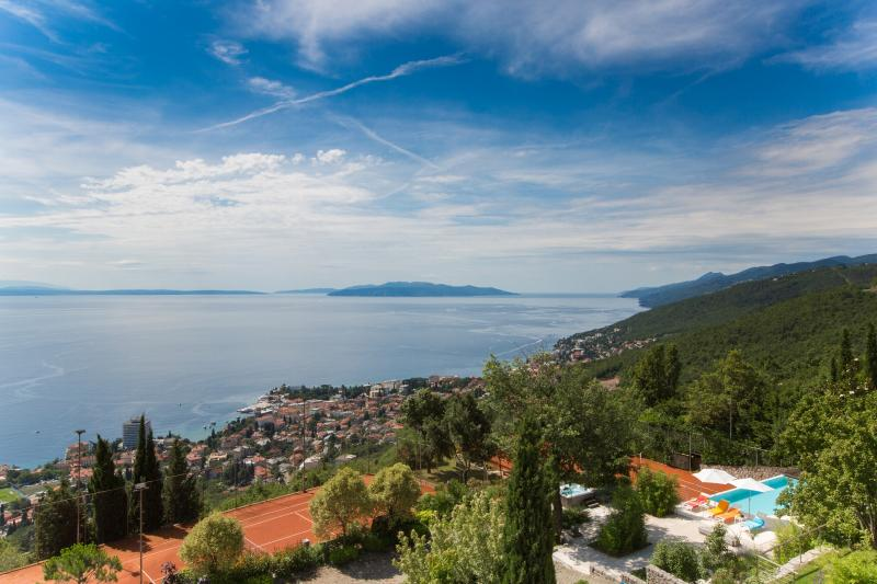 overlooking Opatija Hills estate, Opatija riviera and Kvarner bay together with islands Krk and Cres