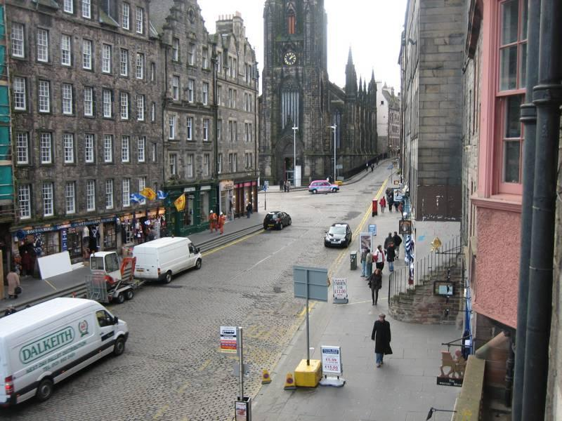 view up Royal mile from lounge window