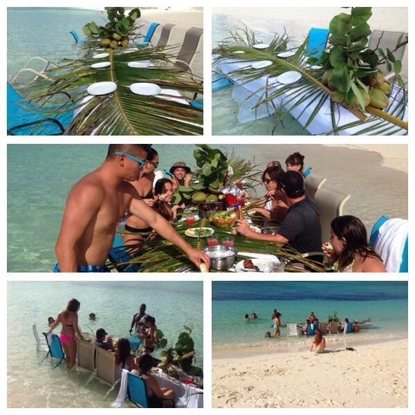 'Lunch in the water' arranged for some of our past guest:-)