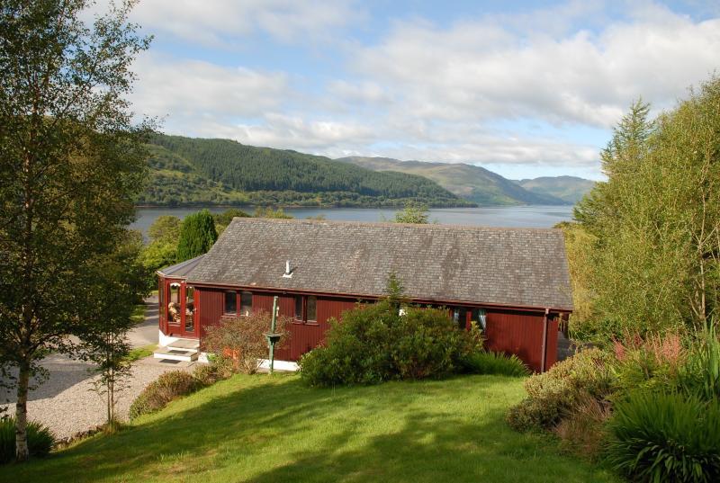 View over Cedar Cottage to Loch Sunart