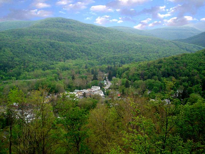 Phoenicia from the overlook behind our property