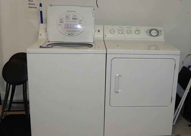 Washer & Dryer in Garage