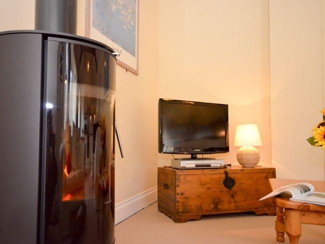 Cosy woodburner in the lounge