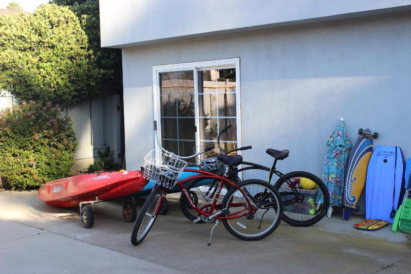Kayaks, Bikes, and various outdoor equipment for your use