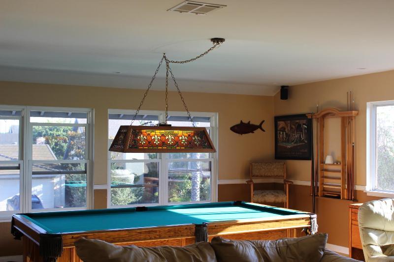 Regulation Size Slate Pool table in Bonus Room