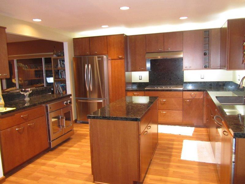Updated large open kitchen