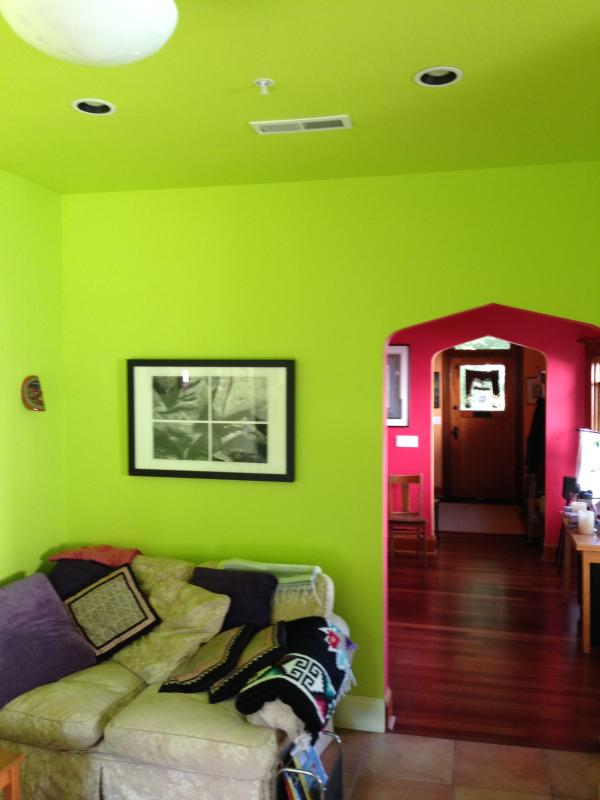 Color abounds throughout the house