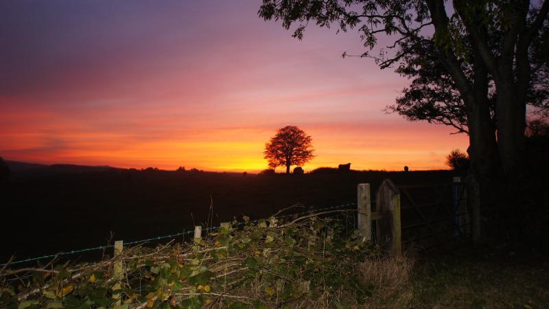 Autumn sunset from Bwthyn Clychau'r Gog 2014