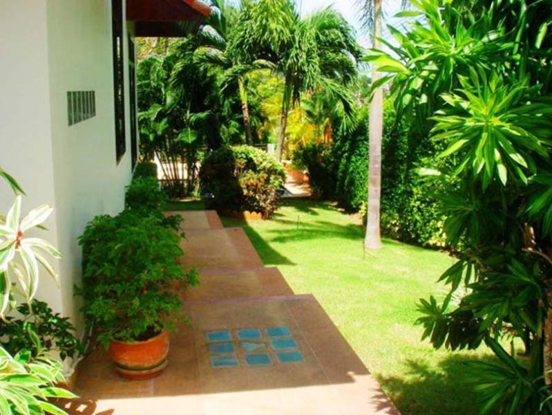 View of streetside garden