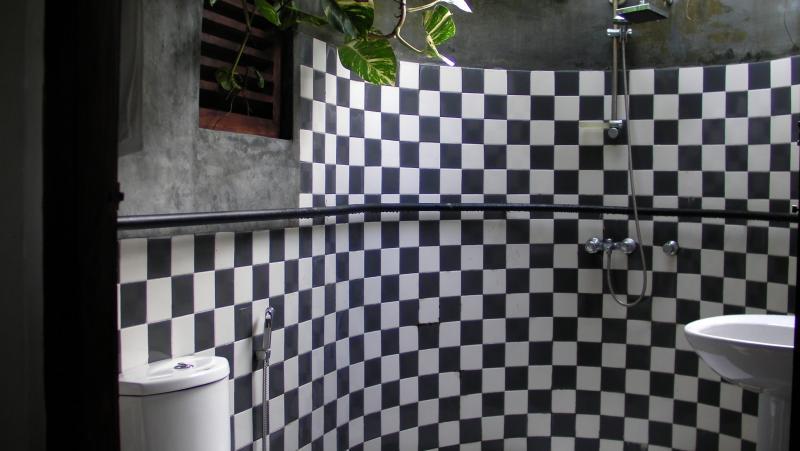 Bagno nella piccola guesthouse