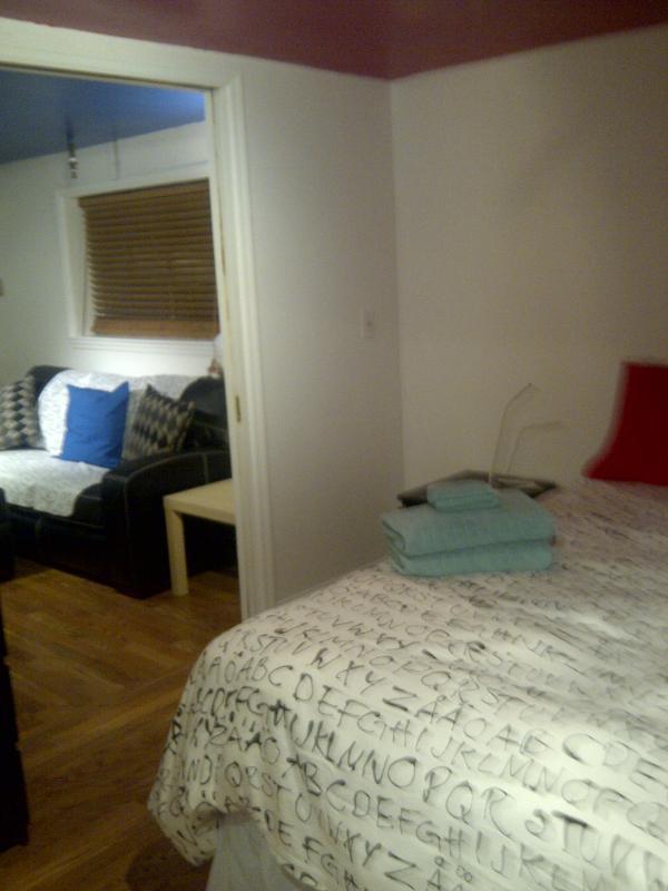 Bedroom looking into Livingroom