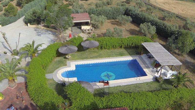 vista aerea de la piscina
