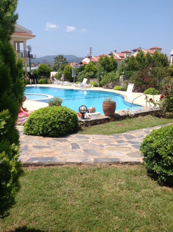 Pool with beautiful surrounding gardens