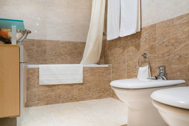 Bathroom, with bidet, shared by bedrooms 2 and 3