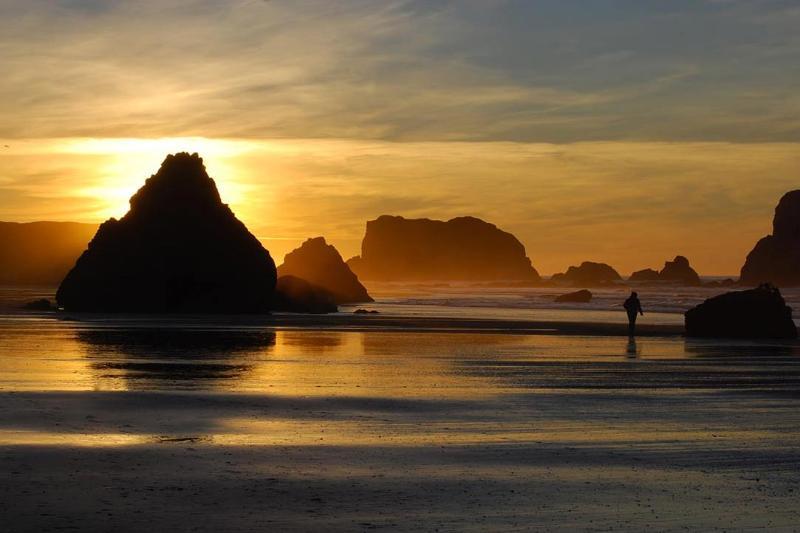 Södra bryggan strand solnedgång promenad