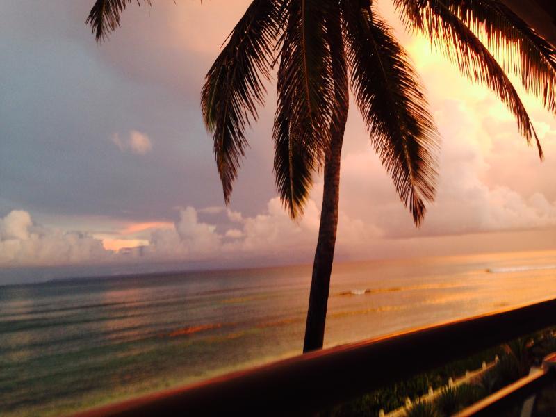 Coucher de soleil sur le Yacayou