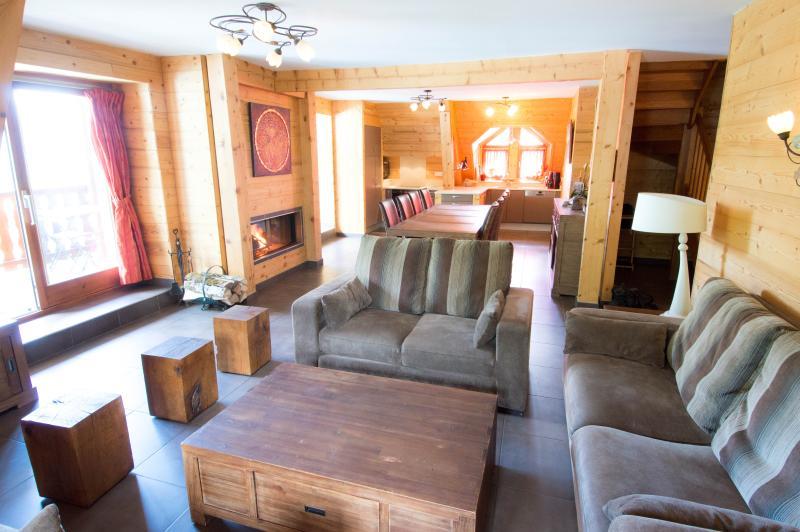 Salon, séjour - cheminée, cuisine - 50 m2