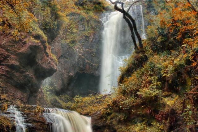 Glenashdale falls in the autumn