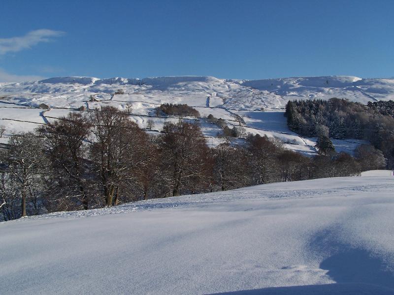 Blick von der Hütte im winter