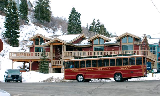 Historic Free Trolly stops right in front of the house