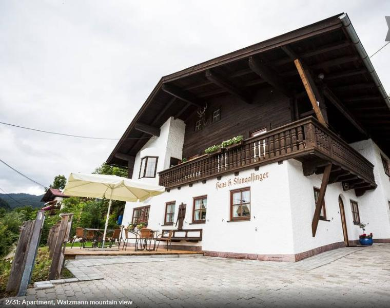 2 Bedroom apartment with Watzmann mountian view, holiday rental in Upper Bavaria