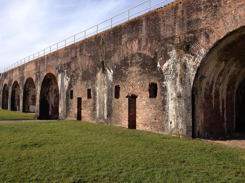 Historical Fort Morgan is less than 1 mile away