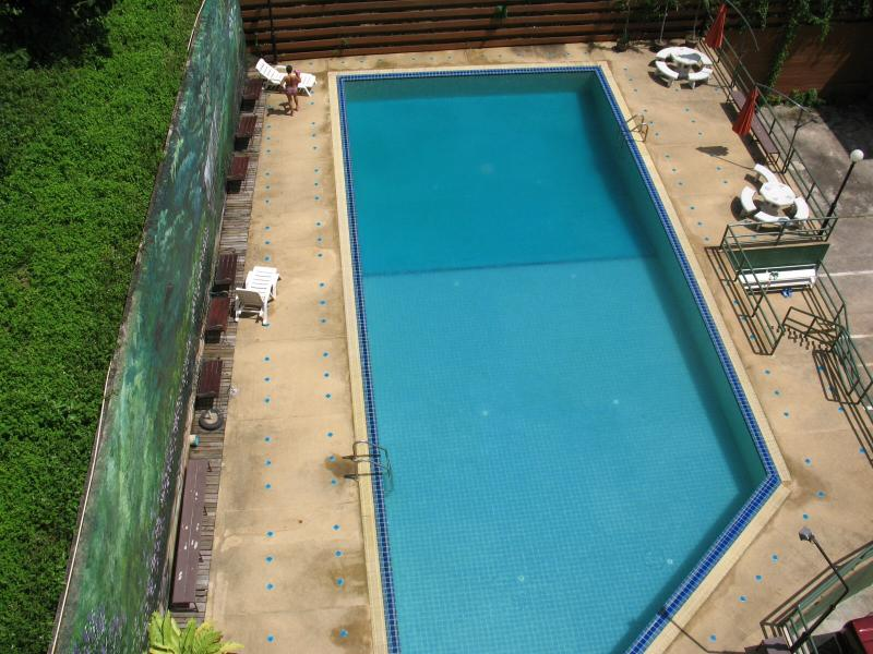 View of Pool from Private Balcony