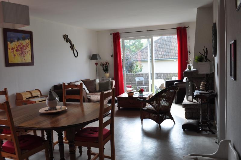 un séjour salon de 32 m2 ouvrant sur balcon