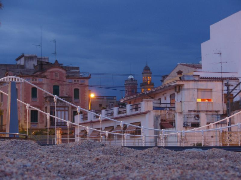 Canet by night, vanaf het strand/view from the beacht