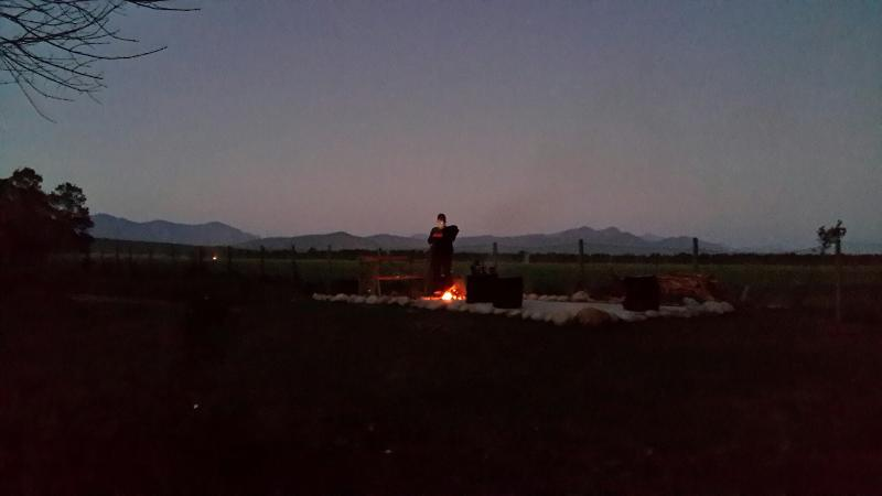 Sunset at the firepit