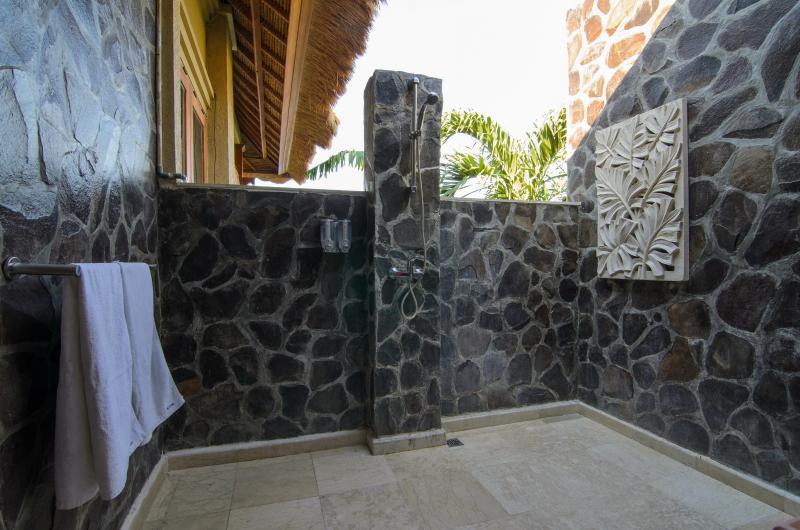 Salle de bain en plein air