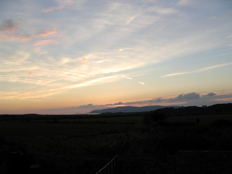 The Sunset seen from Red Gap Cottage.