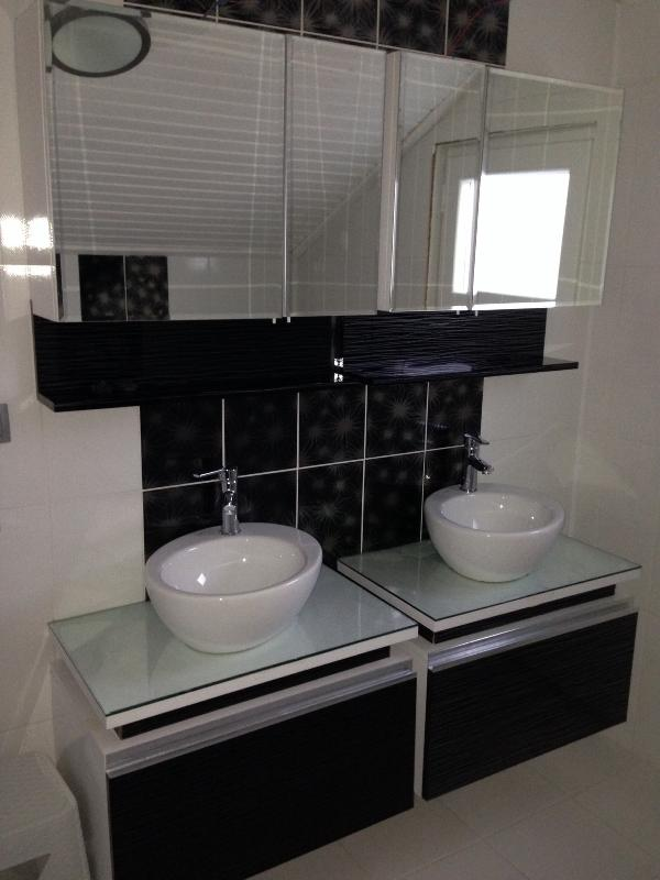 His and hers wash basins in master ensuite