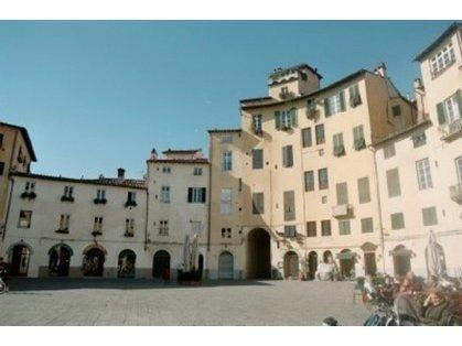 The apartment location looking directly out to this beautiful piazza!
