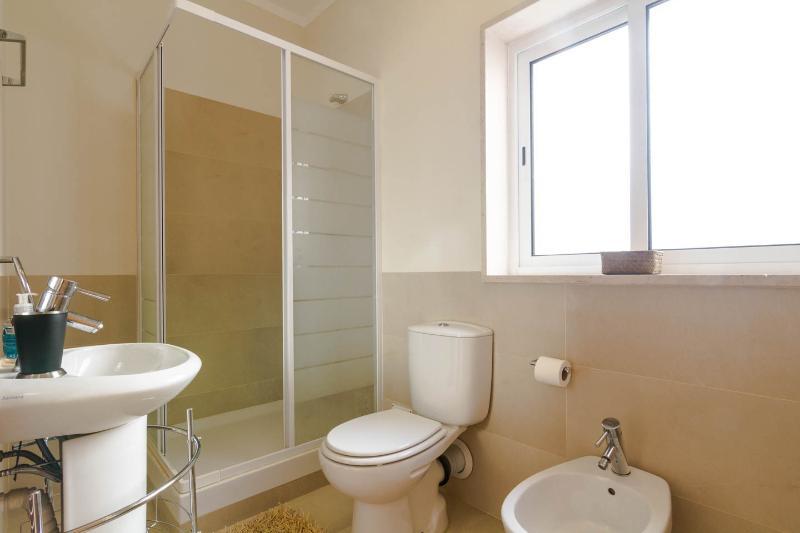 Large en suite shower room off downstairs bedroom
