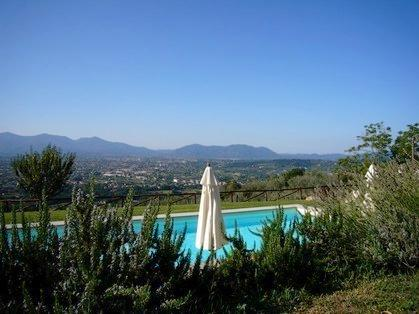 Large private pool with views over towards Lucca with the mountains behind. Pure peace!