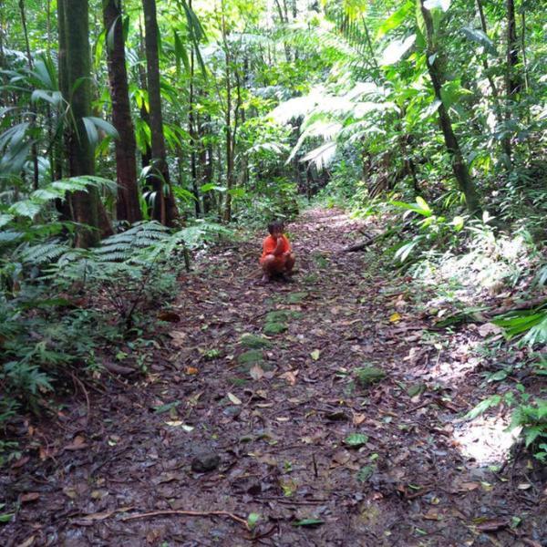 Waitikubuli Trail nur durch die Haustür