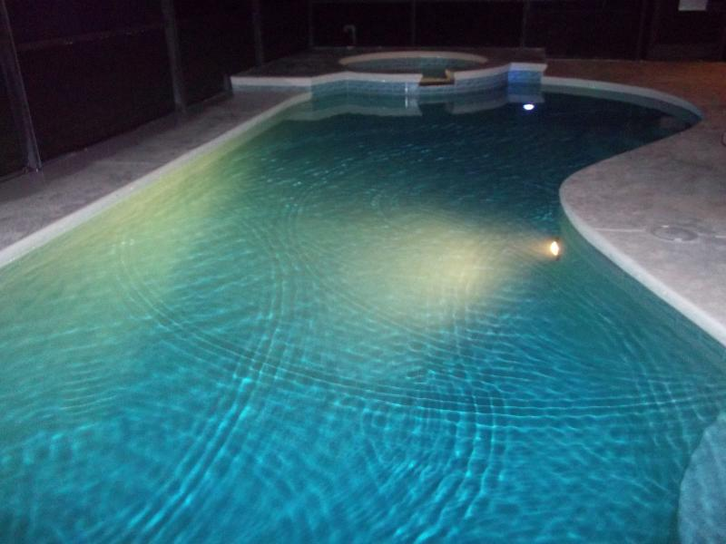 Night time view of Pool