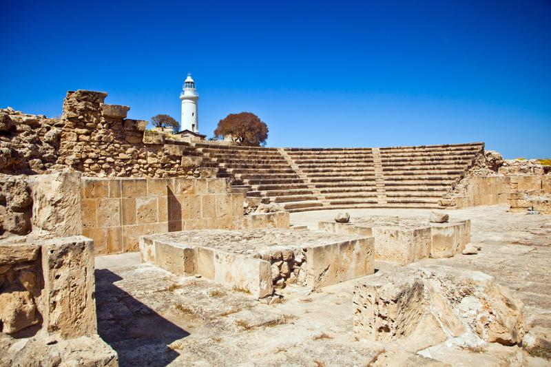 The restored Greco-Roman amphitheatre