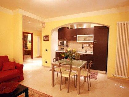 One of the pristine living/kitchen/dining areas