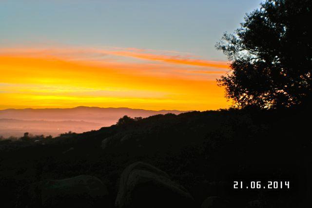 Sunrise off Veranda