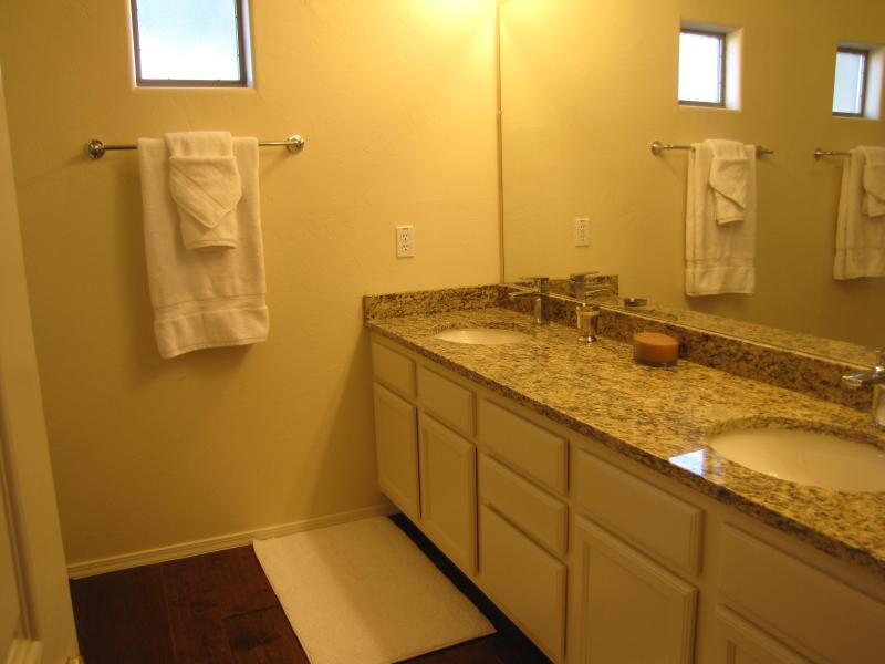 Master Bath with double vanity and walk-in shower