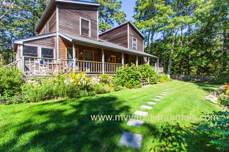 Yard and Front of House with Expansive Porch
