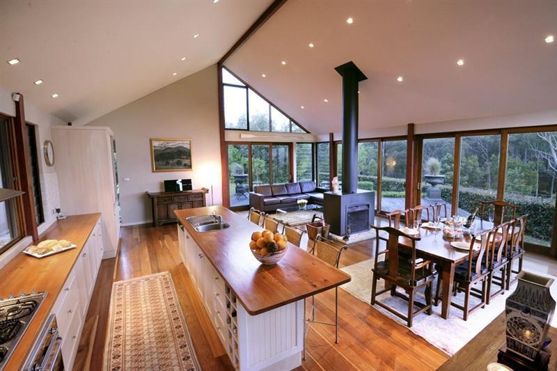 Abundance of light in the glass walled living area