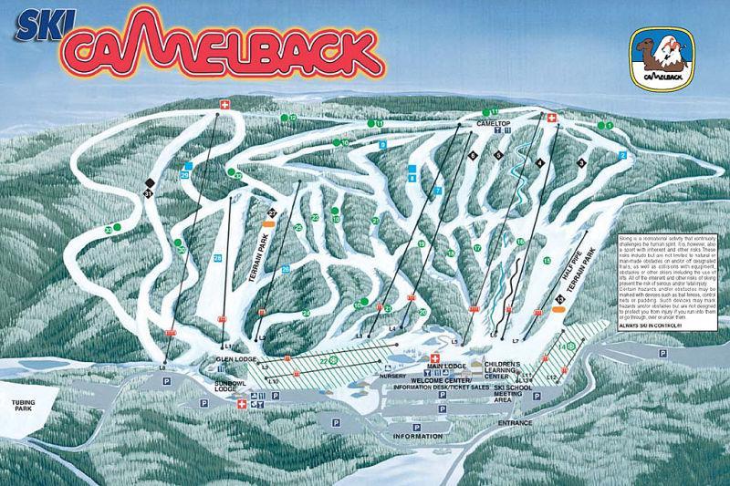 Minutes du domaine skiable de Camelback