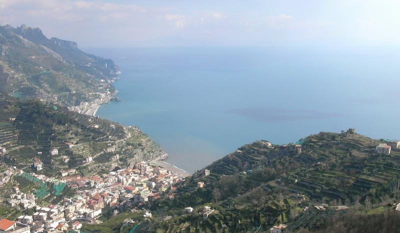 view of the coast from Ravello