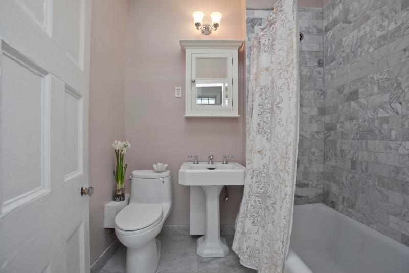 Recently Renovated Marble Bathroom