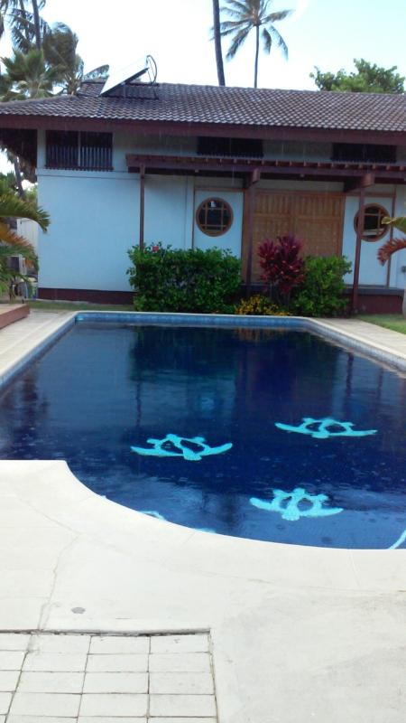 Swimming pool in front of studio