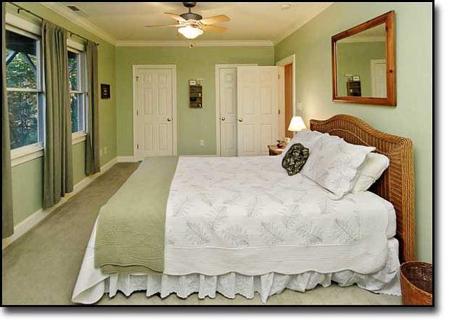 Lower level bedroom with queen