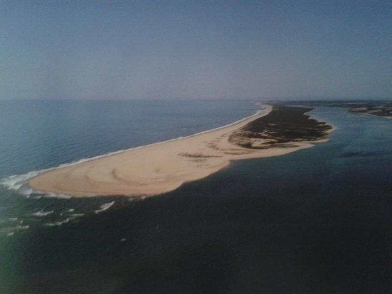 Playa de la Flecha desde el aire